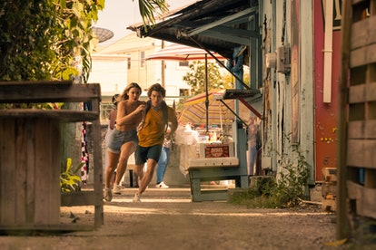 Sarah and John B. are on the run in the Bahamas in Season 2 of 'Outer Banks.' Photo via Netflix