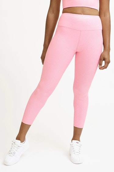 Stay Glossy 7/8 Legging In Iridescent Pink