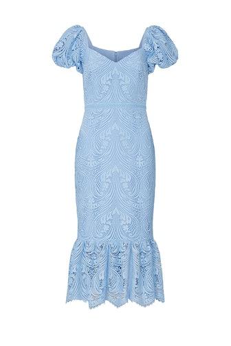 Lace Puff Sleeve Dress