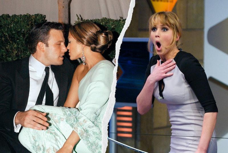 Ben Affleck, Jennifer Lopez, and Jennifer Lawrence.