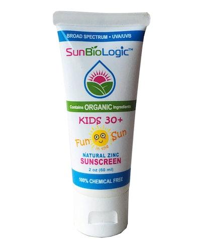 SunBioLogic Kids Natural Zinc Sunscreen Lotion, SPF 30+