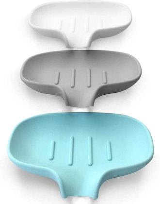 Awopee Self-Draining Silicone Soap Dish