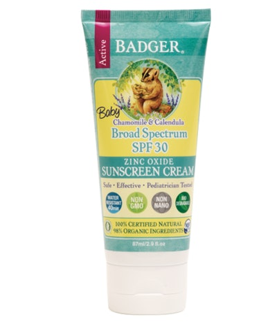 Badger Baby Sunscreen Cream, Chamomile & Calendula, SPF 40