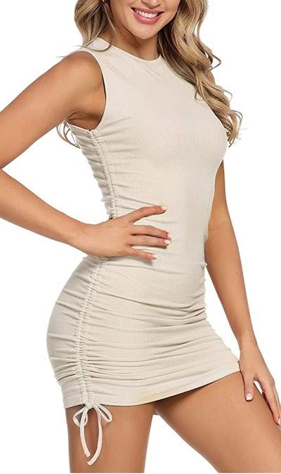 MYHEAT MH Drawstring Ruched Mini Dress