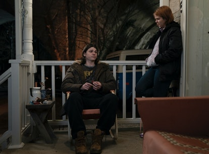 Jack Mulhern and Mackenzie Lansing in HBO's Mare of Easttown