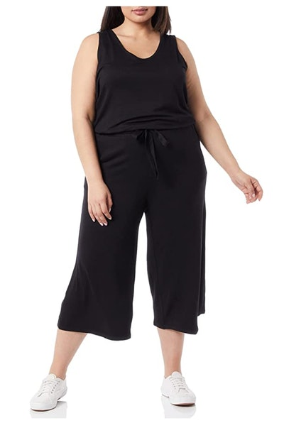 Daily Ritual Supersoft Terry Relaxed-Fit Sleeveless Wide-Leg Jumpsuit