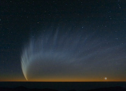 Comet tail at dusk