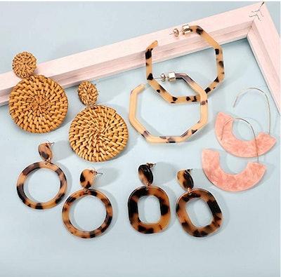 FIFATA Acrylic Earrings (9-Pack)