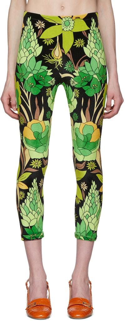 Multicolor Garden Print Leggings