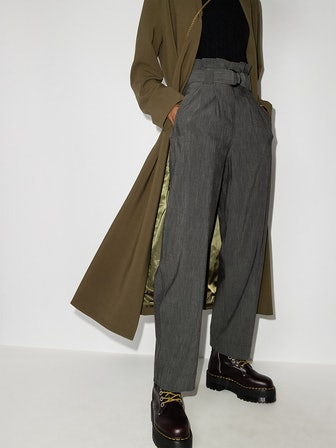 Mélange Belted Trousers