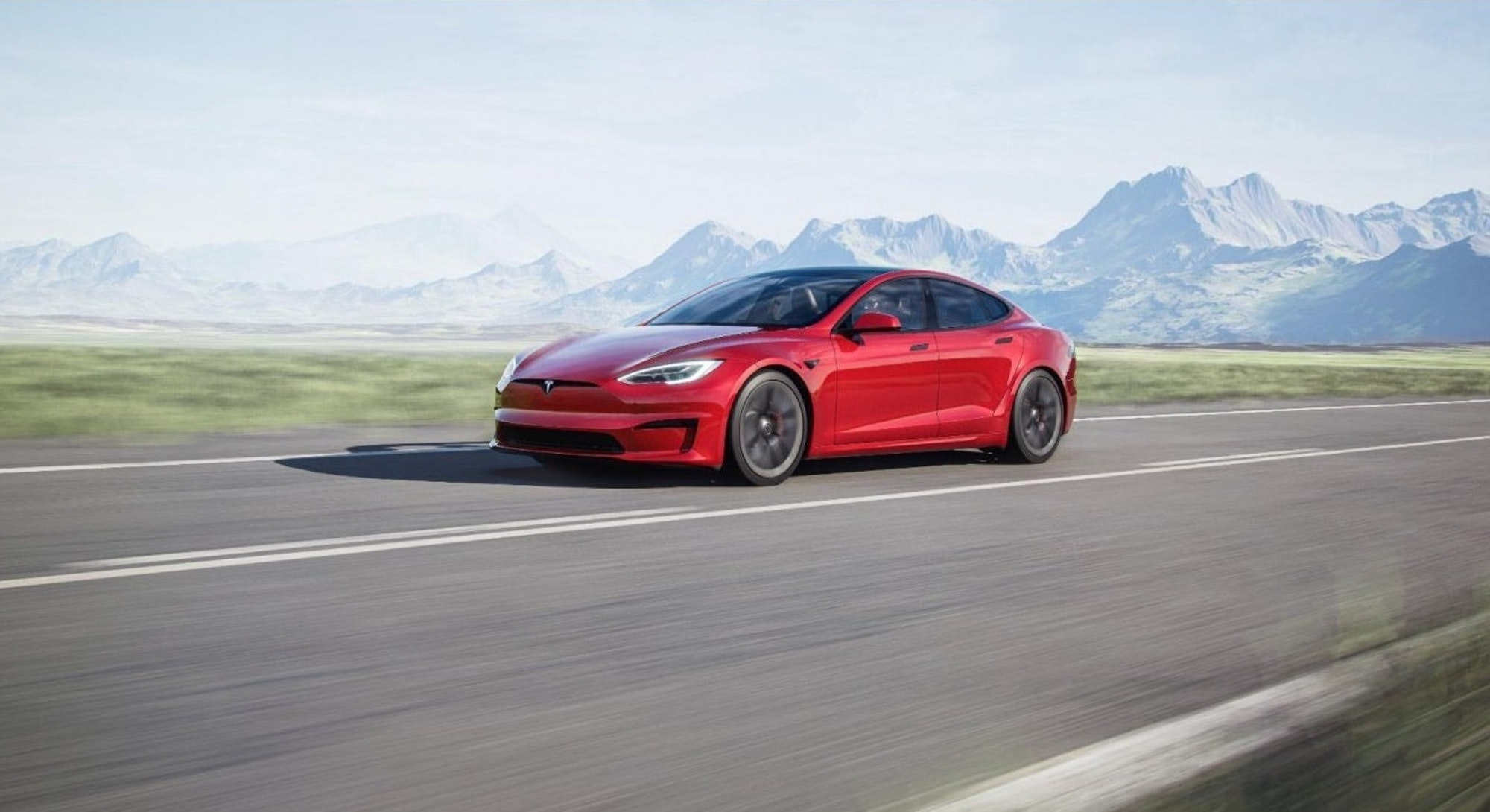 A Tesla Model S. EV. Electric vehicles. EVs. Electric cars.