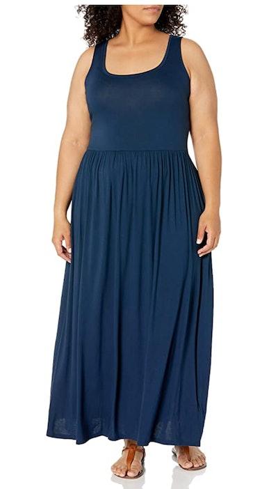 Amazon Essentials Women's Plus Size Tank Waisted Maxi Dress