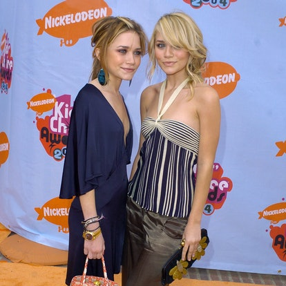 Mary Kate Olsen and Ashley Olsen during Nickelodeon's 17th Annual Kids' Choice Awards - Arrivals at Pauley Pavillion in Westwood, California, United States.