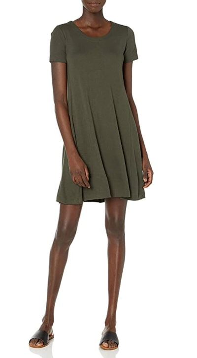 Daily Ritual Short-Sleeve Scoop Neck Dress