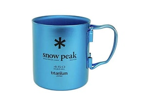 Snow Peak Ti-Double 450 Colored Mug, 14 oz.
