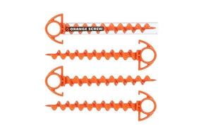 Orange Screw: The Ultimate Ground Anchor (Set Of 4)