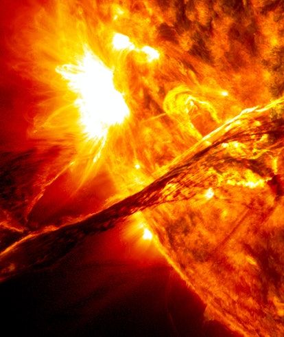 coronal mass ejection image combined from multiple wavelengths