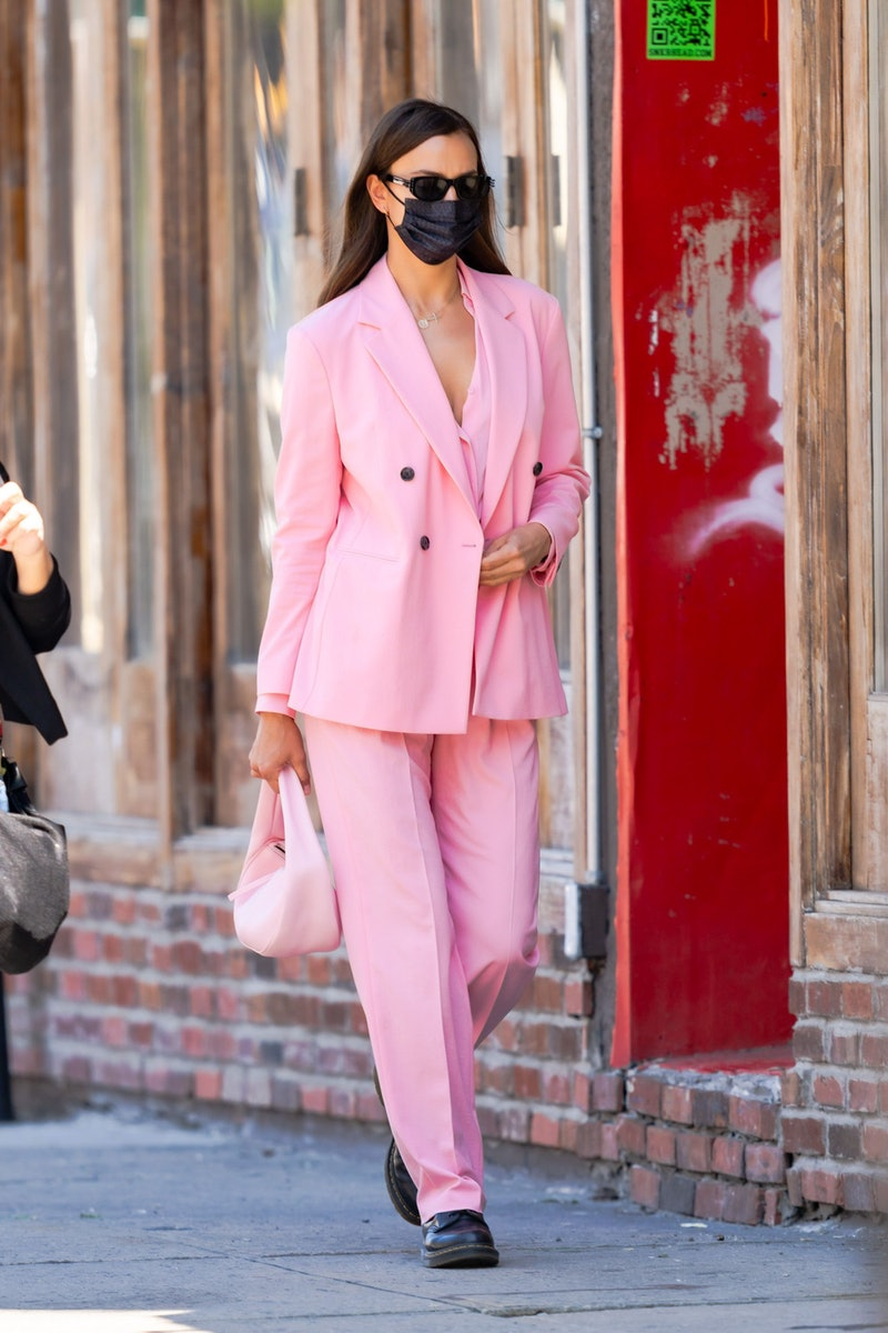 Irina Shayk is seen in the West Village on May 14, 2021 in New York City.