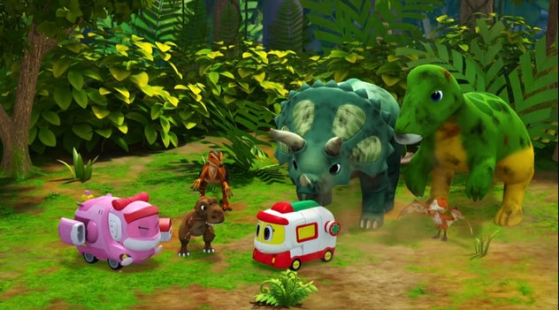'Gogo Dino Exporers' is intended for preschool viewers and features lessons on cooperation.