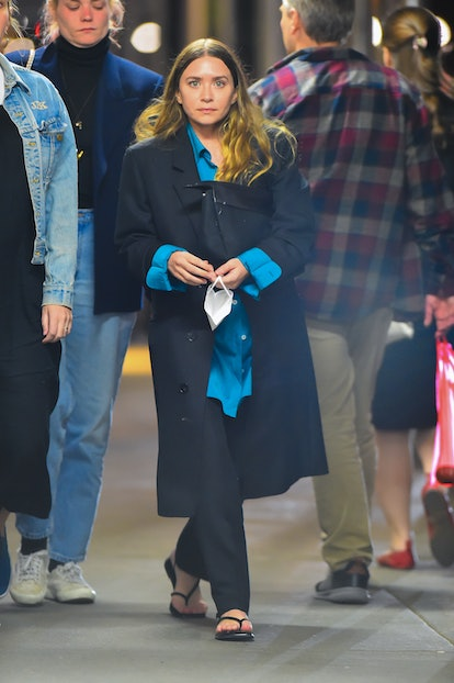 Ashley Olsen is seen out walking home late evening after dinner in Manhattan on May 14, 2021 in New ...