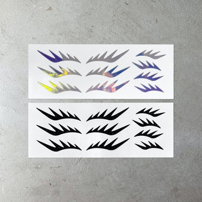 Spiked! Face Decals