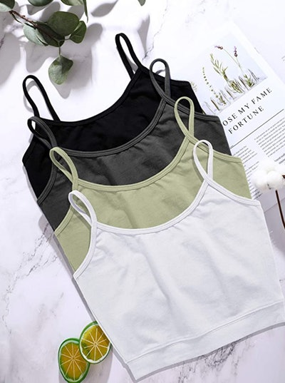 Boao Basic Crop Tank Tops (4-Pack)