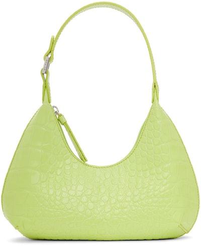 Green Croc Baby Amber Shoulder Bag
