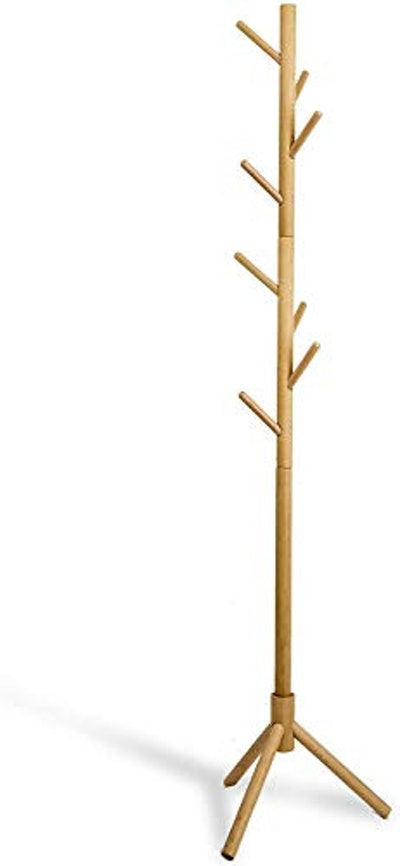 Lendra Deluxe Wooden Coat Rack Tree