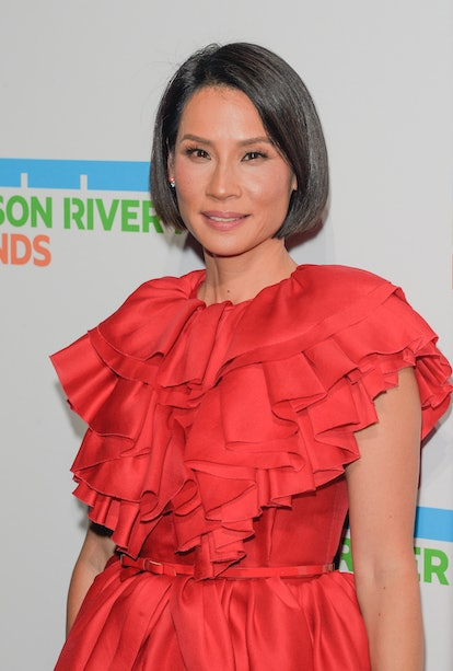 NEW YORK, UNITED STATES - 2019/10/17: Lucy Liu wearing dress by Greta Constantine attends Hudson River Park Gala at Cipriani South Street.