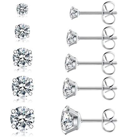 Wssxc Stud Earrings Set (5 Pairs)