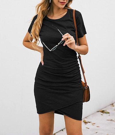 BTFBM Ruched T Shirt  Dress