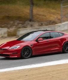 A Tesla Model S Plaid. EV. Electric vehicles. EVs. Electric cars.