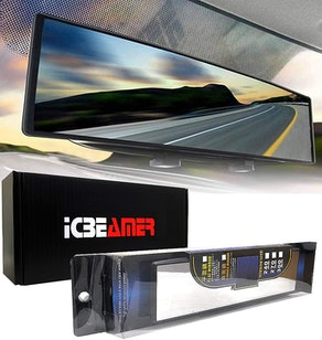 ICBEAMER Easy Clip on Wide Angle Rearview Mirror