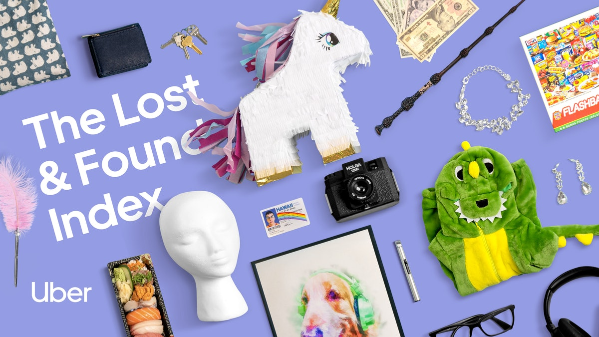 Uber's 2021 Lost & Found Index includes a list of the weirdest items that have been left behind.