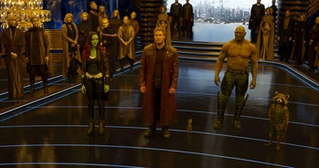 The Guardians of the Galaxy gathered together in Vol. 2