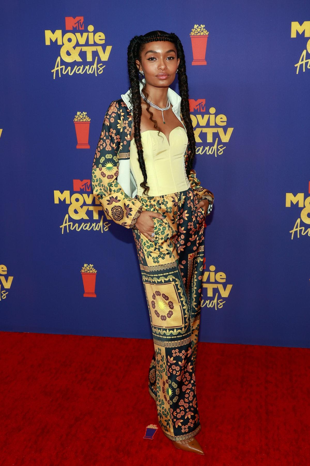LOS ANGELES, CALIFORNIA - MAY 16: Yara Shahidi attends the 2021 MTV Movie & TV Awards at the Hollywo...