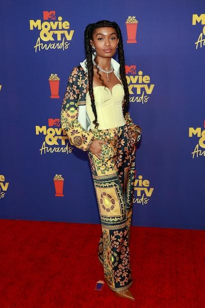 LOS ANGELES, CALIFORNIA - MAY 16: Yara Shahidi attends the 2021 MTV Movie & TV Awards at the Hollywood Palladium on May 16, 2021 in Los Angeles, California.