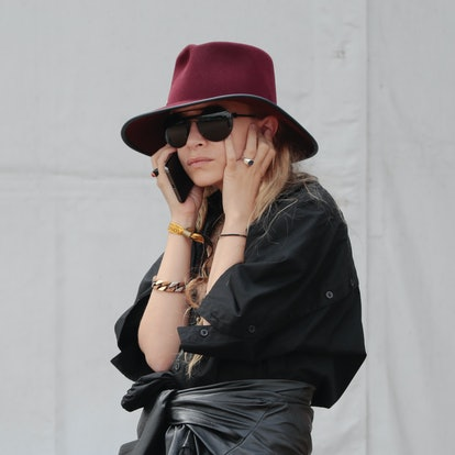 Ashley Olsen, twin sister of Mary Kate Olsen, is attending the Longines Global Champions Tour of Chantilly, at Hippodrome de Chantilly on July 13, 2019 in Chantilly, France.