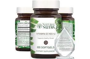 Natural Nutra Supreme 400 IU Vitamin D3 (100 Count)