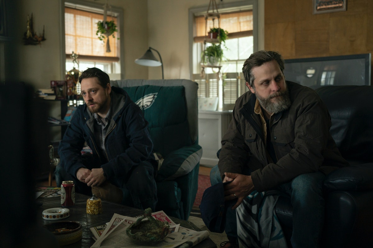 Joe Tippett and Robbie Tann in HBO's Mare of Easttown