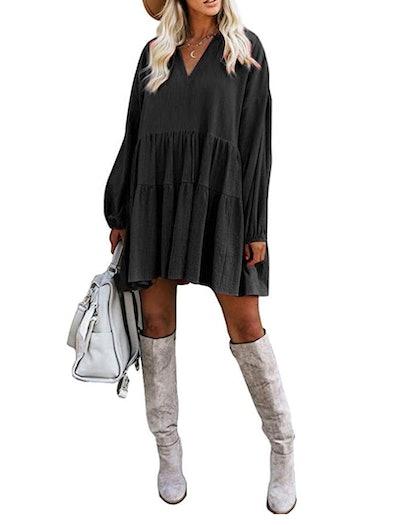 FANCYINN Swing Tunic Mini Dress