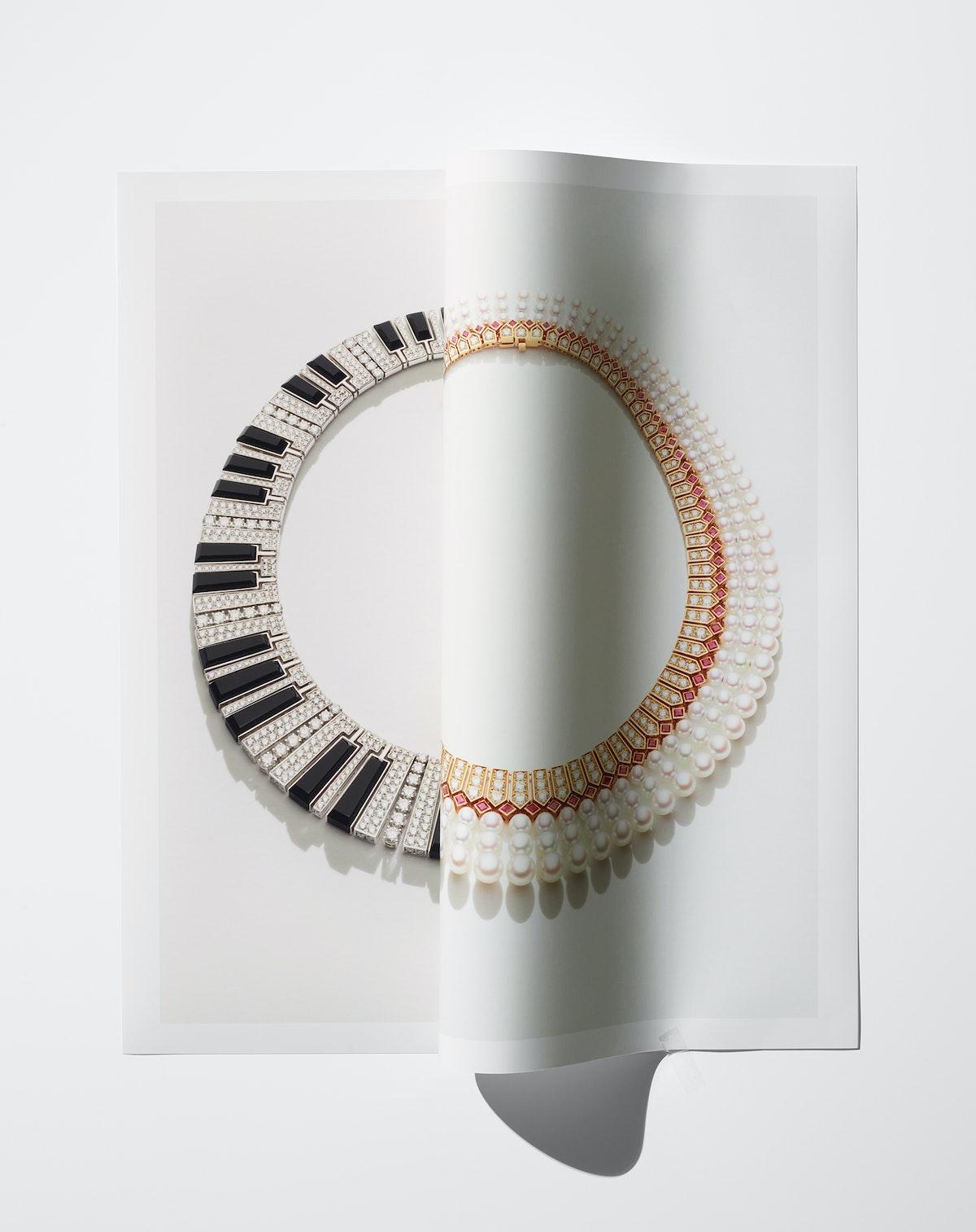 Bulgari necklaces.
