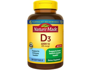 Nature Made 1,000 IU Vitamin D3 (300 Count)