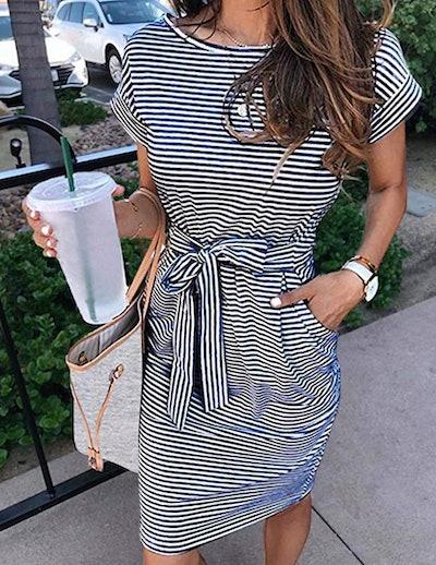 MEROKEETY T-Shirt Dress