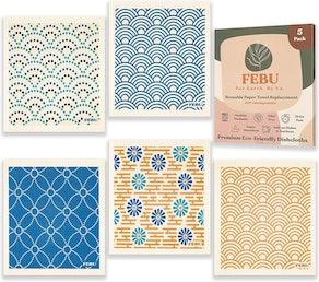 FEBU Swedish Dishcloths (5- Pack)