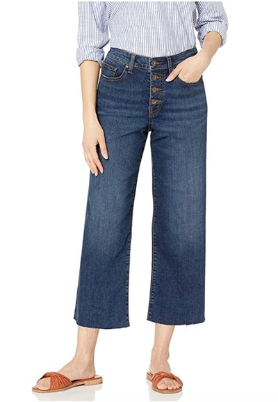 Daily Ritual Women's Relaxed Fit Wide-Leg Crop Jean