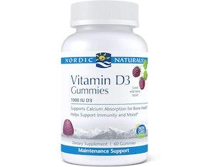 Nordic Naturals Pro 1,000 IU Vitamin D3 Gummies (60 Count)
