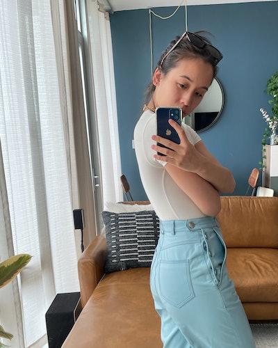 Marina Liao wearing SKIMS.