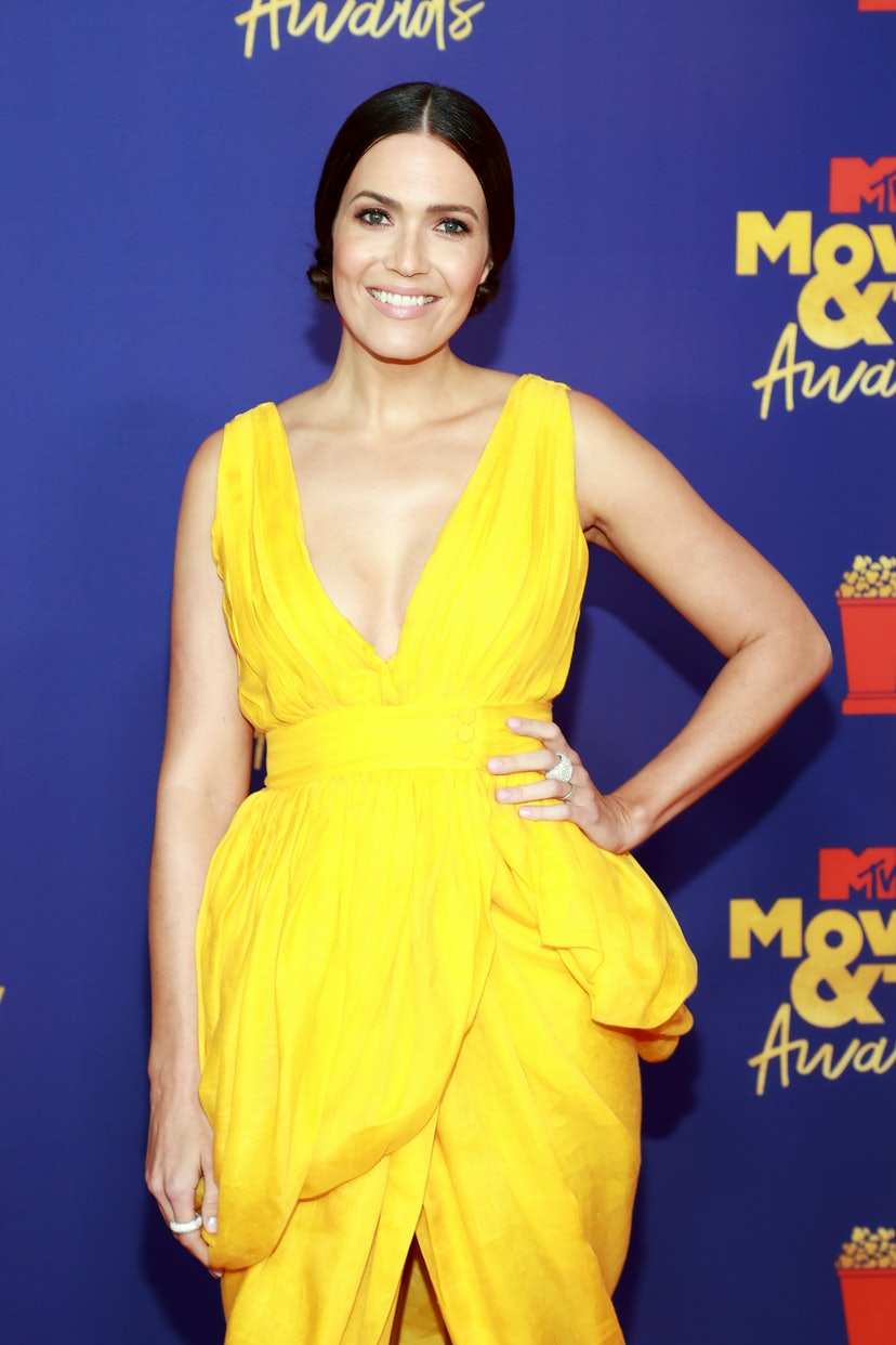 LOS ANGELES, CALIFORNIA - MAY 16: Mandy Moore attends the 2021 MTV Movie & TV Awards at the Hollywoo...