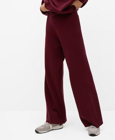 Women's Flared Knit Trousers